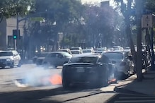 Tesla Model 3 Catches Fire After Crashing into a Tow-Truck in Moscow