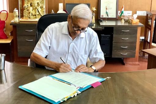 File photo of  Goa chief minister Manohar Parrikar.