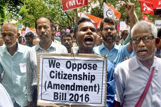 File photo of protests against the Citizenship (Amendment) Bill. (PTI)
