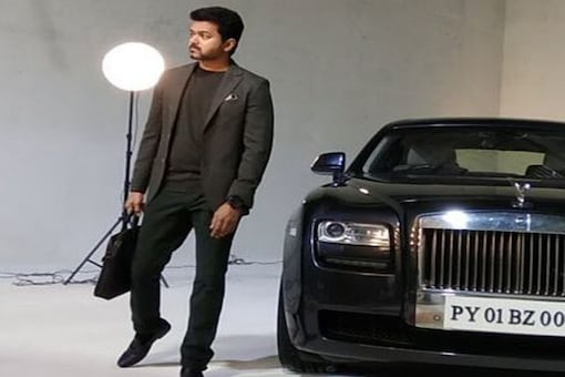 A still from Vijay's photoshoot for the film.