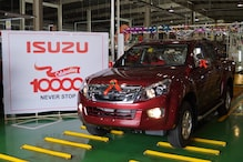 Isuzu Motors India Rolls-Out D-Max V-Cross Pickup Truck as 10000th SUV from Andhra Pradesh Plant