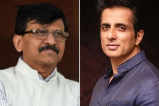 Sanjay Raut (left) and Sonu Sood.