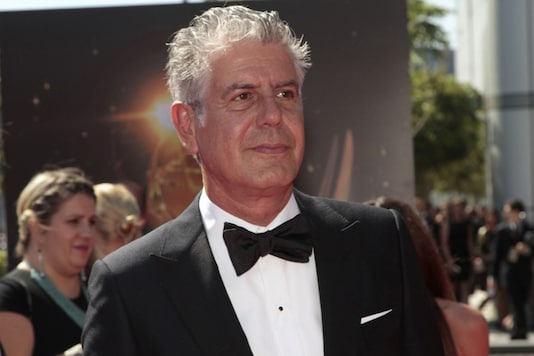 Chef and television personality Anthony Bourdain arrives at the 65th Primetime Creative Arts Emmy Awards in Los Angeles, California September 15, 2013. REUTERS/Jonathan Alcorn/File Photo