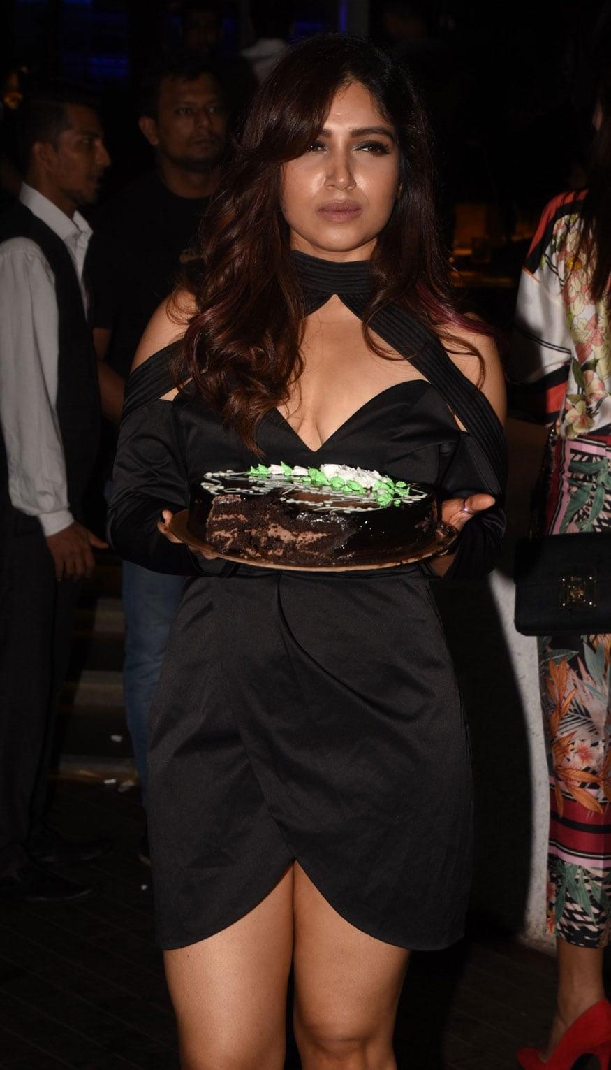 Bhumi Pednekar during her birthday party in Mumbai. (Image: Viral Bhayani)