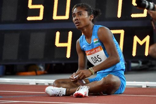 File photo of Hima Das. (Photo Credit: AFP)
