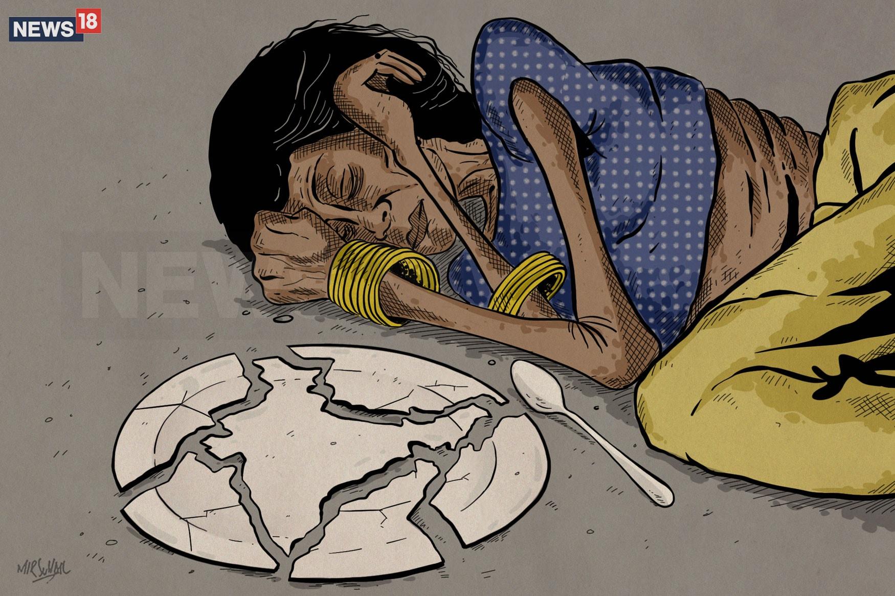 Hunger-Haunts-Jharkhand-Cartoon