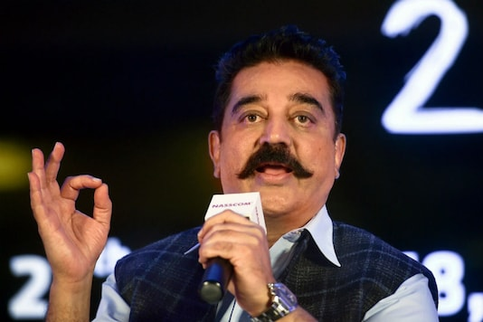 Mengarsipkan foto aktor yang berubah politik Kamal Haasan.