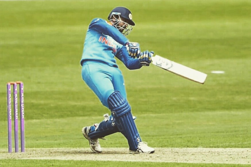 Krunal Pandya in action for India A. (Twitter/Krunal Pandya)