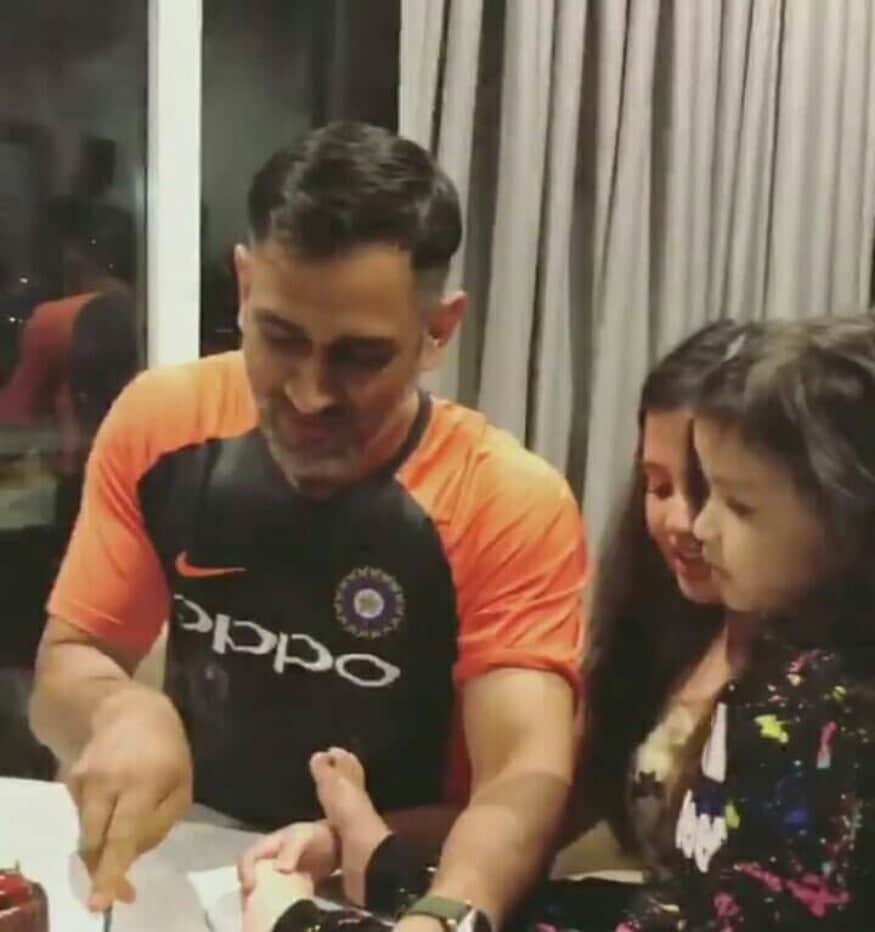 MS Dhoni Rings in 37th Birthday With Sakshi, Ziva & Teammates