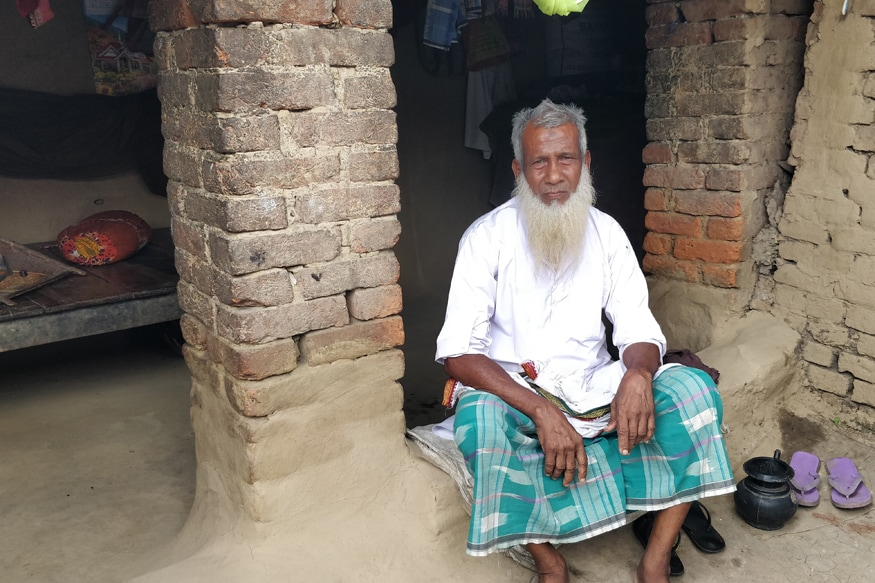 Many elderly in the village like Quddu Shaikh depend on the money collected by the local masjid for survival