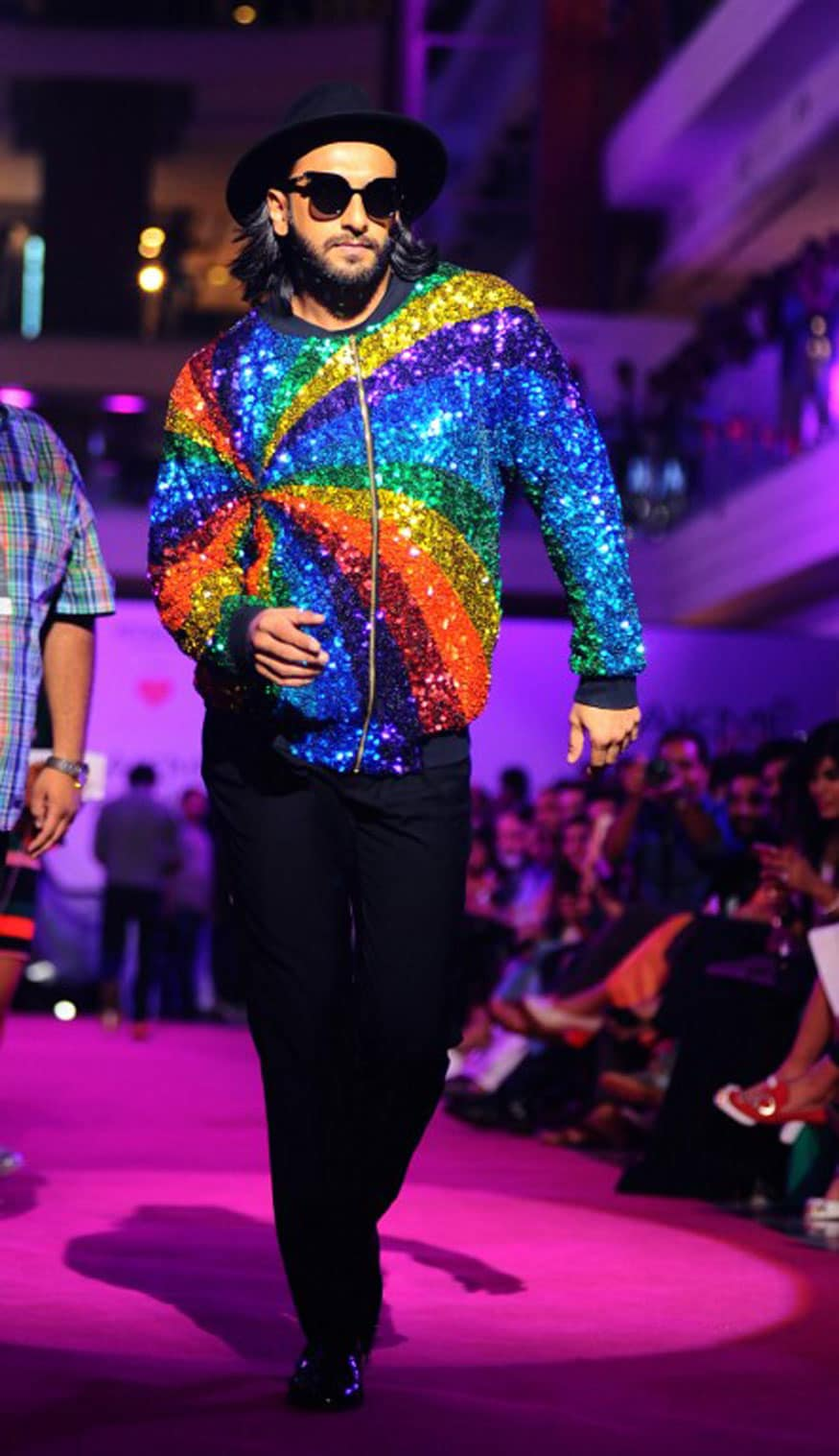Ranveer Singh poses for a photograph during the Lakme Fashion Week (LFW) Winter/Festive 2017 in Mumbai. (Image: AFP)