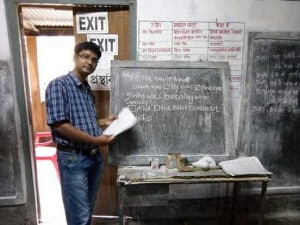 Shafi Uddin Ahmed teaches in government school in Dhubri