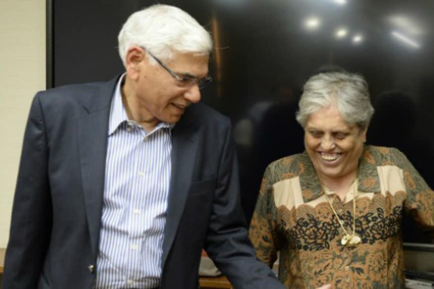 Vinod Rai and Diana Edulji. (PTI Image)