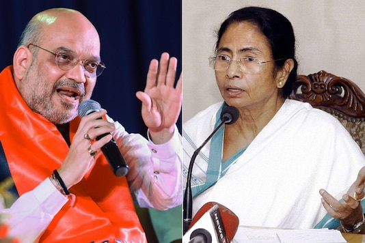File photos of Amit Shah and Mamata Banerjee.