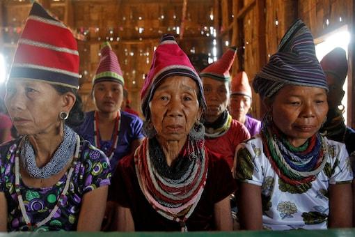 File photo of Bru tribal women in Tripura. (Reuters)