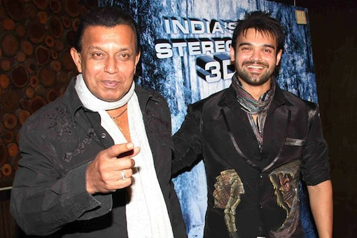 Mahaakshay with father Mithun Chakraborty at a film launch. (File photo)