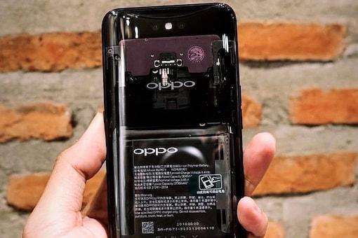 Oppo Find X Transparent Back Showing Internal Components Spotted Online (image: @K2Gadgets)