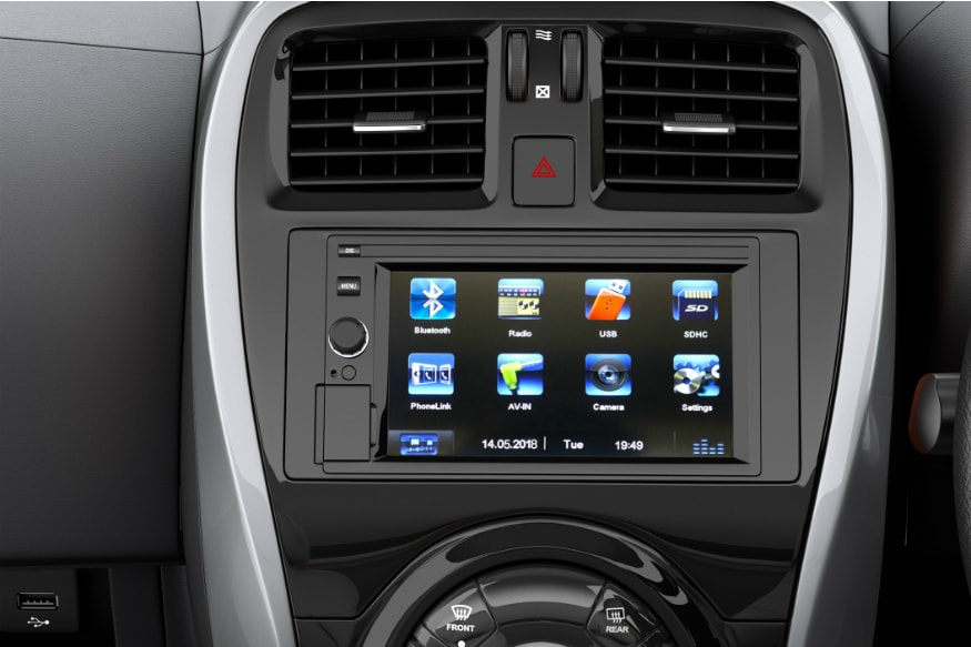 6.2-inch touchscreen on the 2018 Nissan Micra. (Image: Nissan)