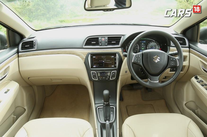 Maruti Suzuki Ciaz Facelift cabin. (Image: Siddharth Safaya/ News18.com)