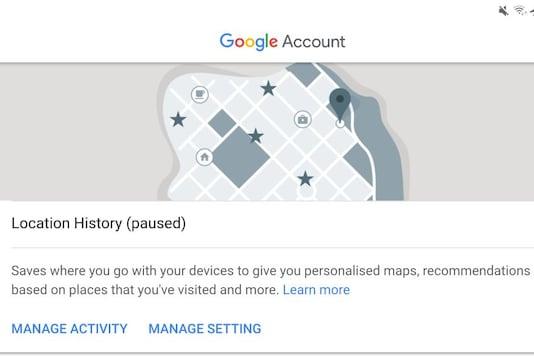 Representative image of Google Location Tracking