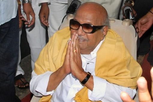 File photo of late DMK patriarch and former Tamil Nadu CM M Karunanidhi.