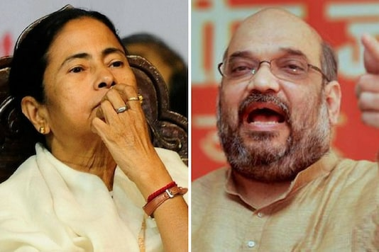 File photo of Chief minister Mamata Banerjee and Union Home minister Amit Shah.