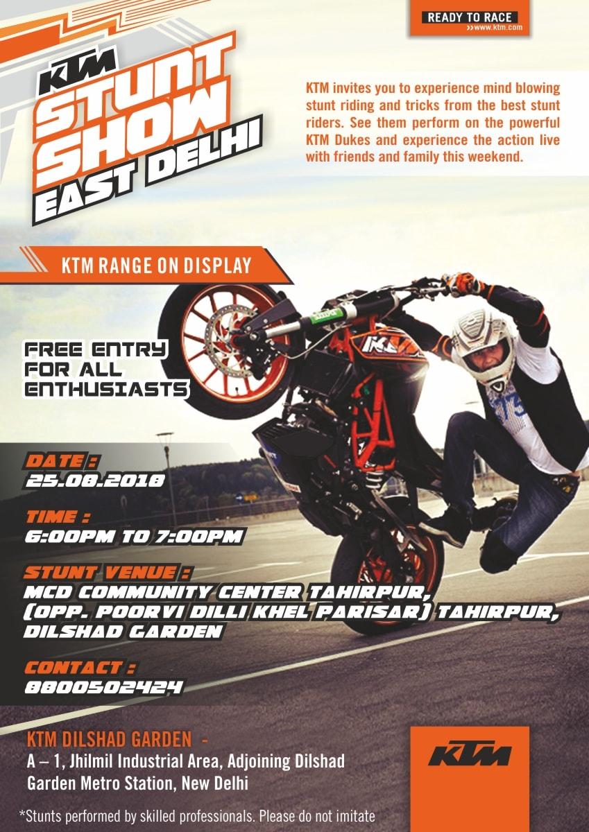 Poster for the KTM Stunt show. (Image: KTM)