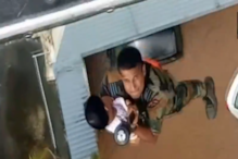 IAF Officer Dangles From Chopper to Rescue Toddler, Mother in Dramatic Rescue Op in Kerala
