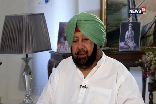 File photo of Punjab chief minister Amarinder Singh.