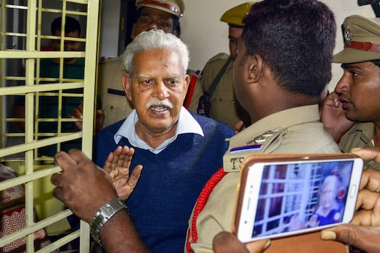 File photo of Varavara Rao. (Image: PTI)