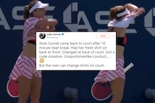 US Open Warns Alize Cornet Because She Fixed Shirt on Court Kicking Off Sexism Debate, Apologises Later