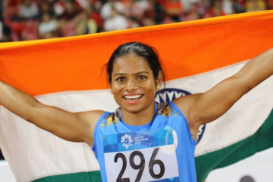 Dutee Chand holds the 100m national record.