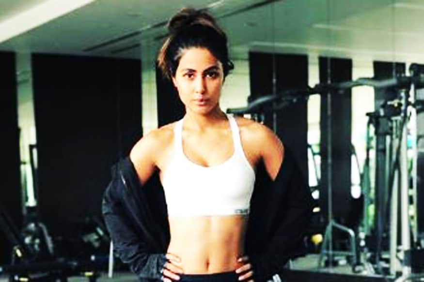 Image result for Bigg Boss 11 Finalist Hina Khan Sweats It Out In Gym, Gets Trolled Mercilessly