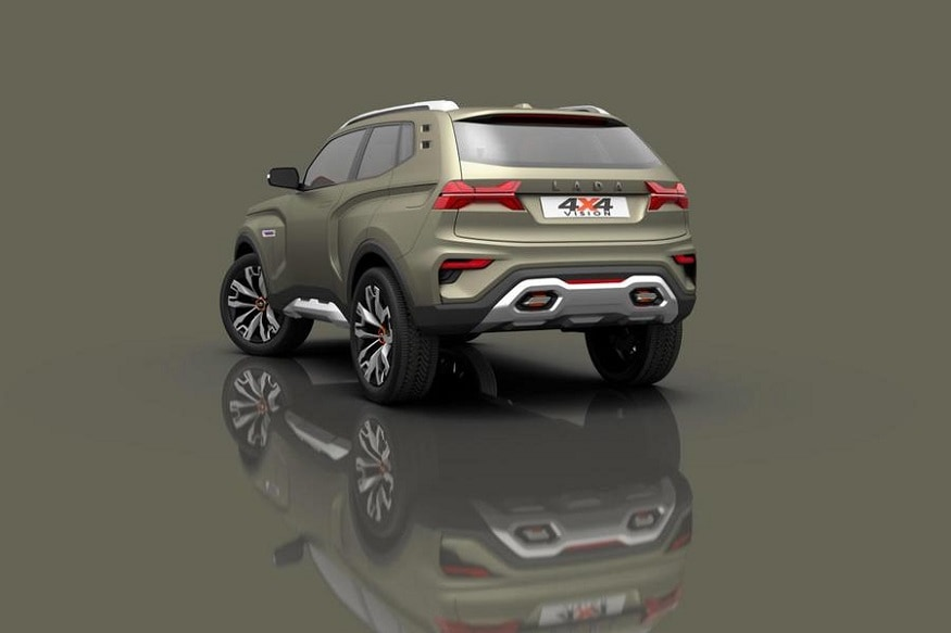 Lada 4x4 Concept rear end. (Image: AFP Relaxnews)