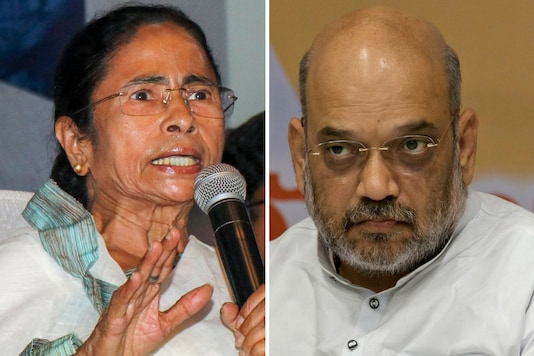 File photos of West Bengal CM Mamata Banerjee and Union Home Minister Amit Shah.
