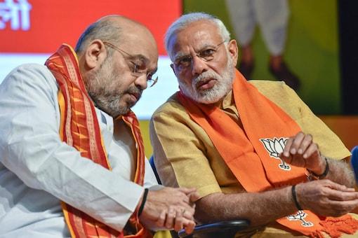 File photo of Home Minister Amit Shah and Prime Minister Narendra Modi. (PTI)