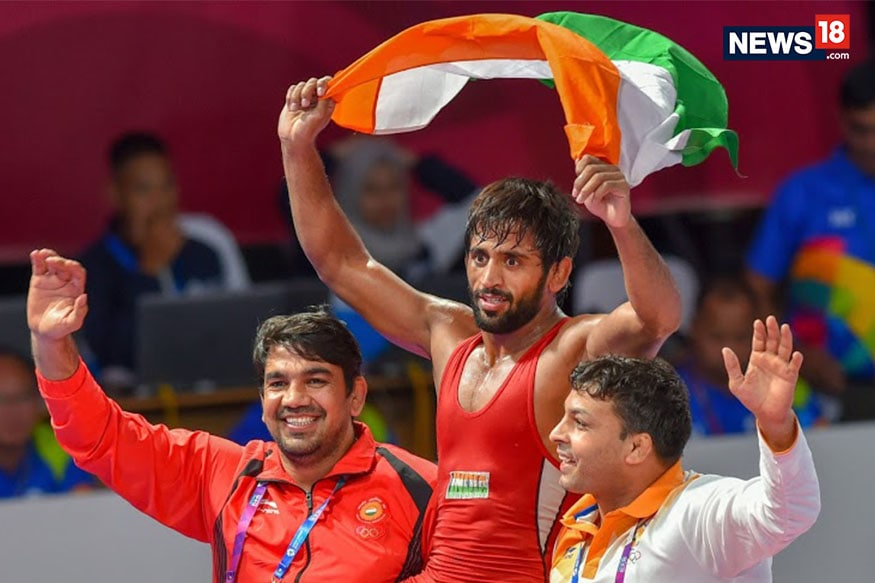 Bajrang Punia Wins Gold at Asian Games 2018