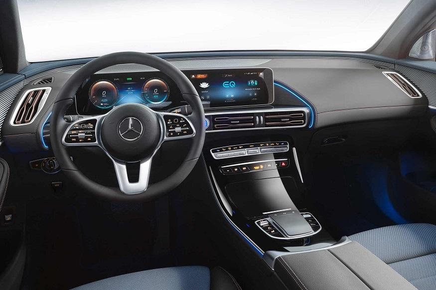 Mercedes-Benz EQC cabin. (Image: Mercedes-Benz)