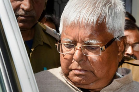 File photo of jailed RJD chief Lalu Prasad Yadav.