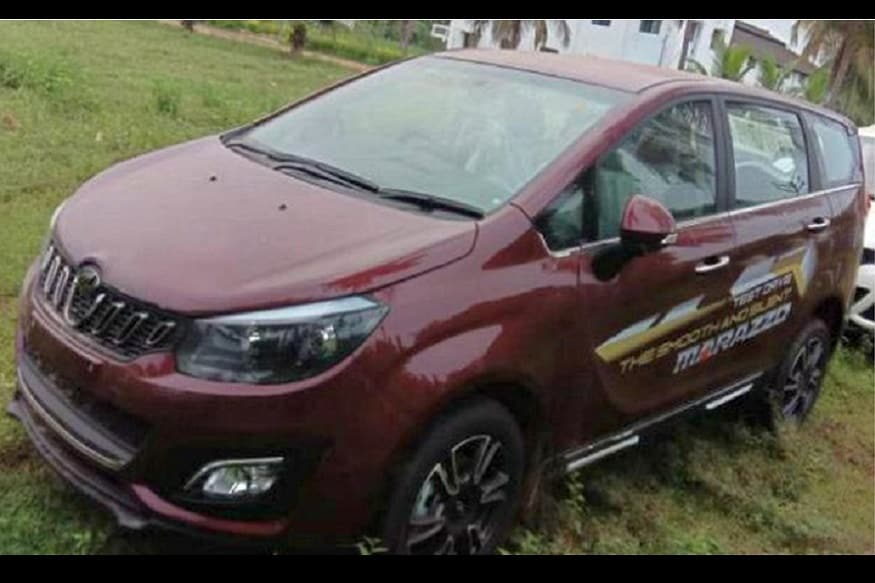 Mahindra Marazzo at a dealer stockyard.  (Image: Source)