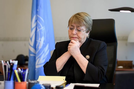 File photo of UN human rights chief Michelle Bachelet.
