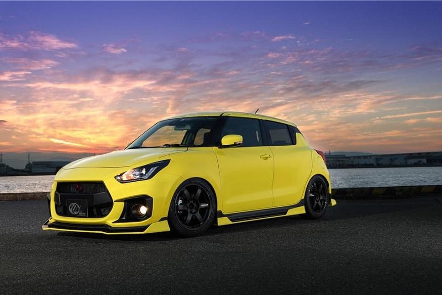 modified bright yellow suzuki swift sport looks like a proper hot hatchback  - news18