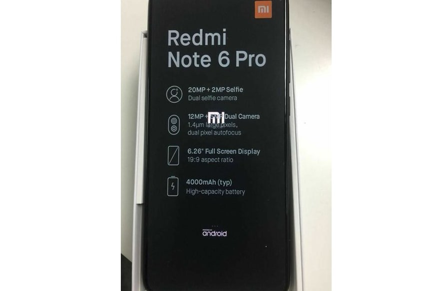 Xiaomi Redmi Note 6 Pro Specs Revealed in Leaked Live Images