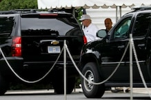 Trump Arrives at Golf Course as John McCain Funeral Underway