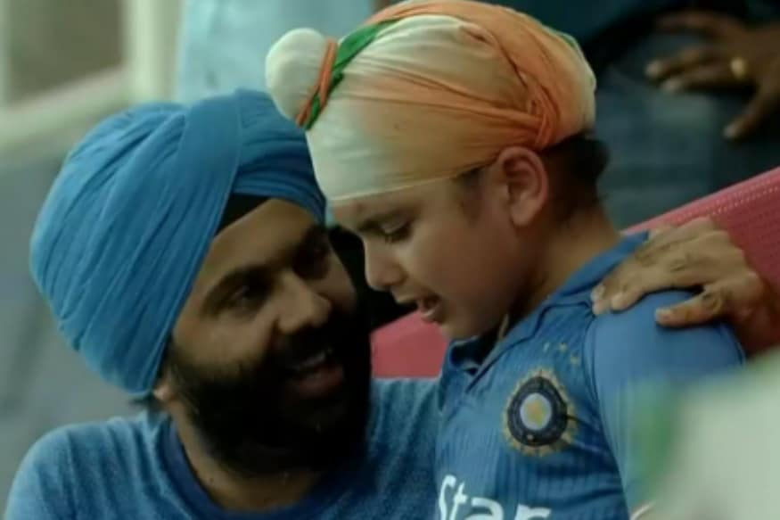 bbfc2de0 Remember The Crying Kid at India-Afghanistan Match? Here's How Indian Team  Cheered Him Up - News18