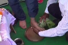 BJP MP Nishikant Dubey Slammed for Allowing Party Worker to Wash His Feet and Drink Up the Water