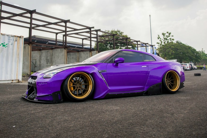 The Purple Pandem Rocket Bunny Widebody Nissan GT-R. (Image: Source)