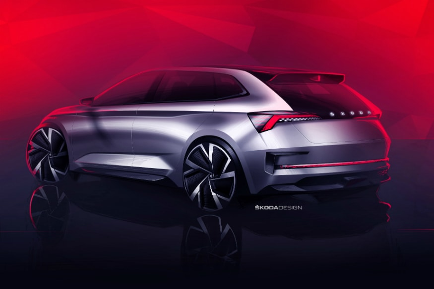 Design sketches of the Skoda Vision RS concept. (Image: Skoda)