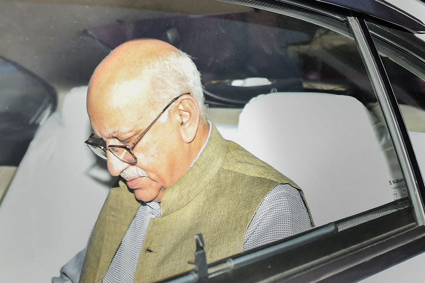 Minister of State for External Affairs MJ Akbar leaves MEA at South Block, in New Delhi on Monday (PTI)