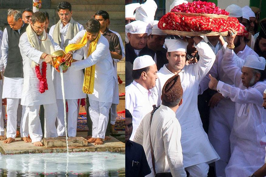 Pics Rahul Gandhi Visits Temple Dargah In Poll Bound Rajasthan